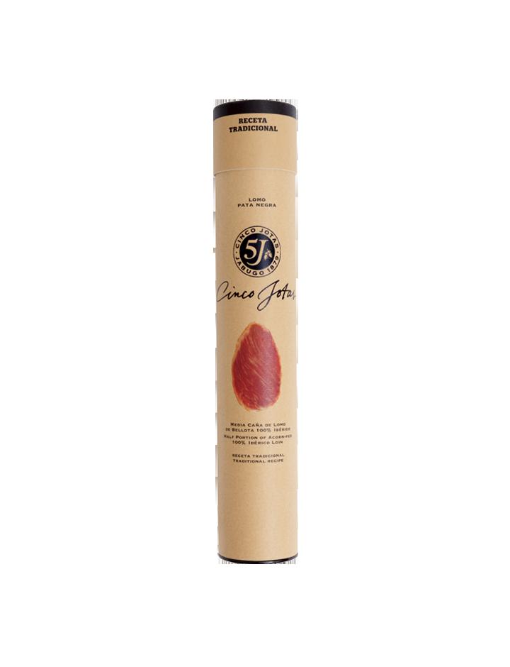 Media-caña de Lomo de Porc de Bellota 100% Ibérico (Demi Saucisse Sèche) Recette Traditionnelle - 500g