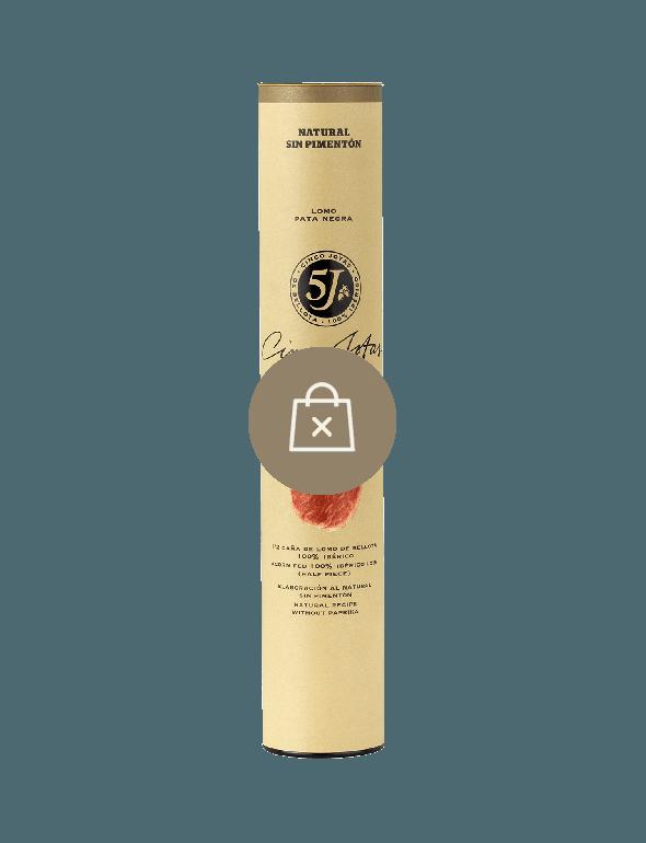 Media-caña de Lomo de Porc de Bellota 100% Ibérico (Demi Saucisse Sèche) Cinco Jotas au Naturel, Sans Paprika