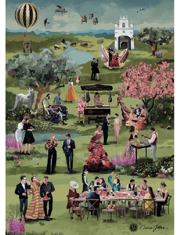 Reproduction « Le Jardin d'Eden de Cinco Jotas »